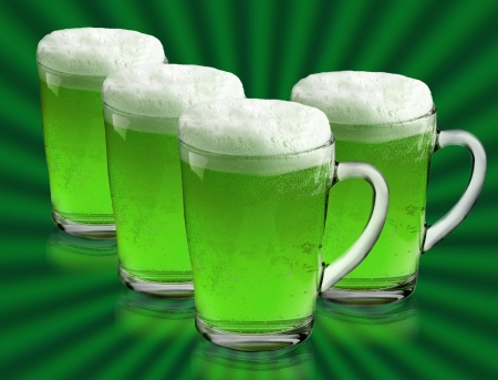 alehouse: Green beer for St Patrick s Day Stock Photo