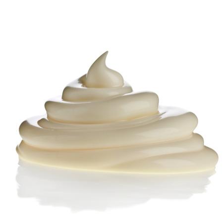 mayonnaise: mayonnaise swirl on white background