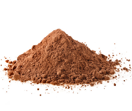 instant coffee: cocoa powder isolated