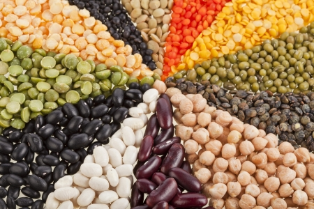 Mix from different beans, legumes, peas, lentils photo