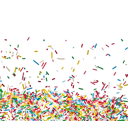 Border frame of colorful candy sprinkles isolated on white 版權商用圖片 - 24305672