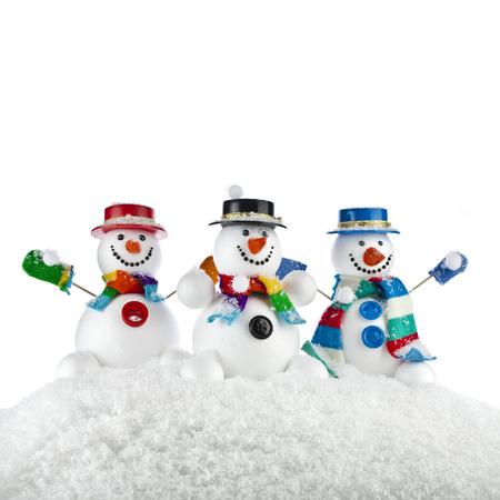 Happy Snowman Seil, Draht, Klebeband Gemacht Isoliert Auf Weißem ...