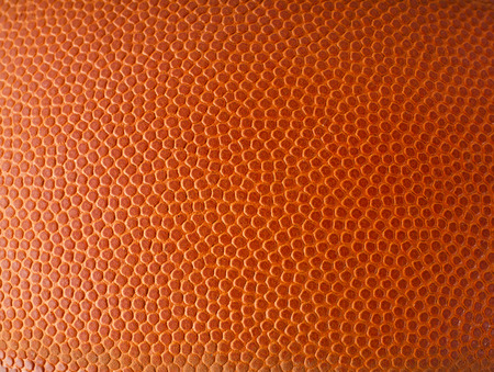 Basketball ball detail leather surface texture background Banco de Imagens
