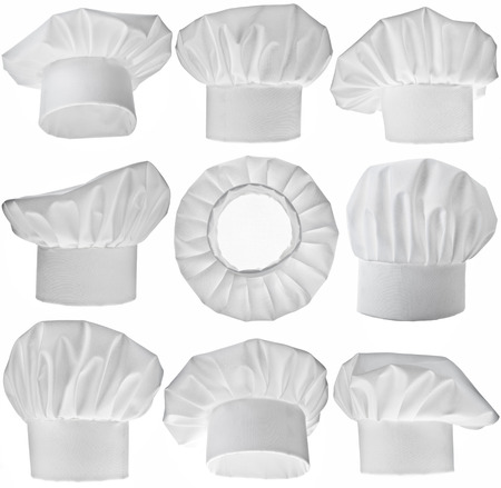 toque: Collection of Chef Hat isolated on white background