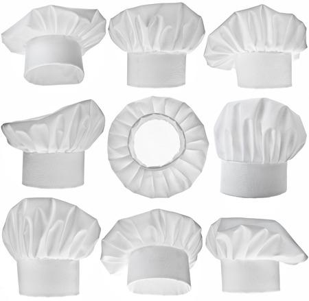 Raccolta di Chef Hat isolato su sfondo bianco Archivio Fotografico - 29370132