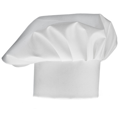 toque: Tall Chef Hat isolated on white background