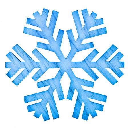 christmas snowflake shape decoration isolated on white photo