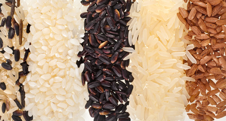 Mixed Rice Line Surface Close up Macro Texture photo