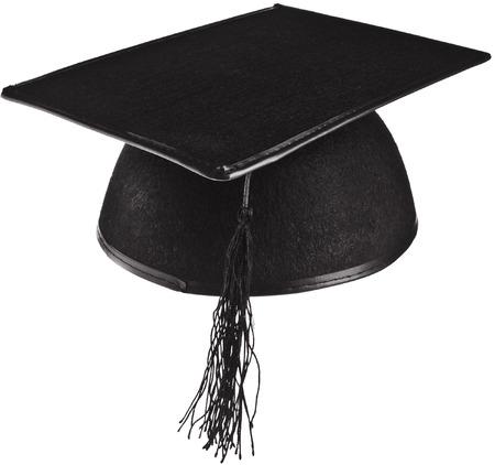 Master s hat isolated on white close up Isolated on White Background photo