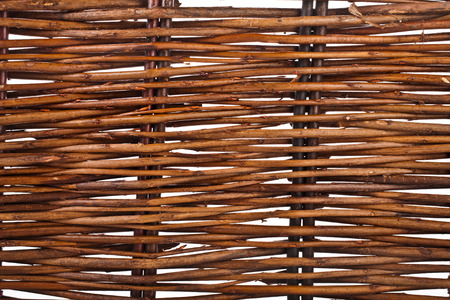 Background of interwoven wooden bars photo