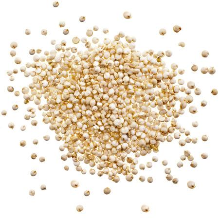 Komosa ryżowa ziarna nasion bliska makro samodzielnie na białym tle Zdjęcie Seryjne