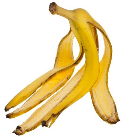 Bananas Skin isolated on white background photo