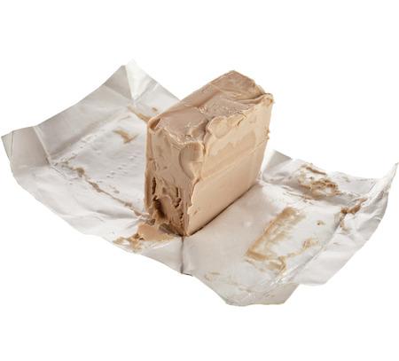 leavening: baking ingredient yeast isolated on white background