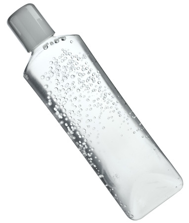 make a paste: Transparent tube with water gel or cream isolated on white background