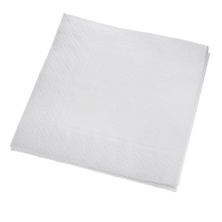White Square paper napkin isolated on white background photo