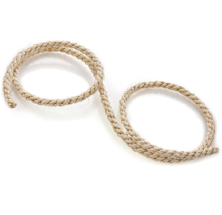sisal: sisal rope isolated on white background