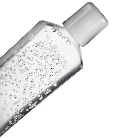 Transparante buis met water gel of crème close-up geïsoleerd op een witte achtergrond Stockfoto - 30060154