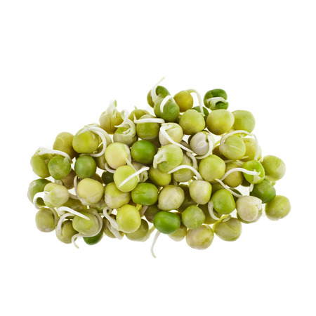 Peas heap pile close up macro isolated on white background Stock Photo - 29991393