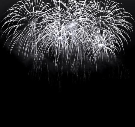 white fireworks over night dark sky photo