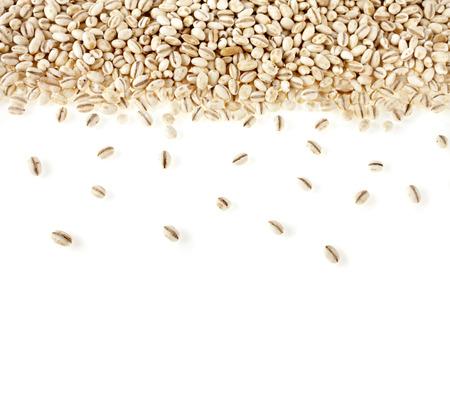 cebada: Frontera de la perla cebada textura de superficie de fondo