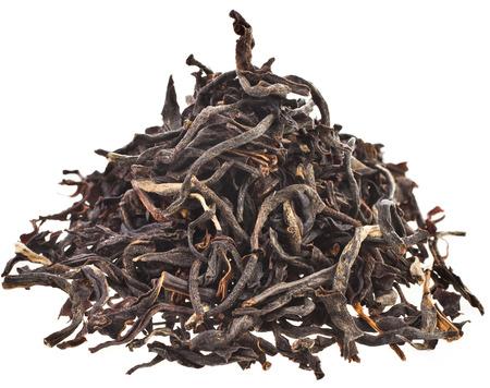 assam tea: Heap pile of Black tea \Assam\ India isolated on white background Stock Photo
