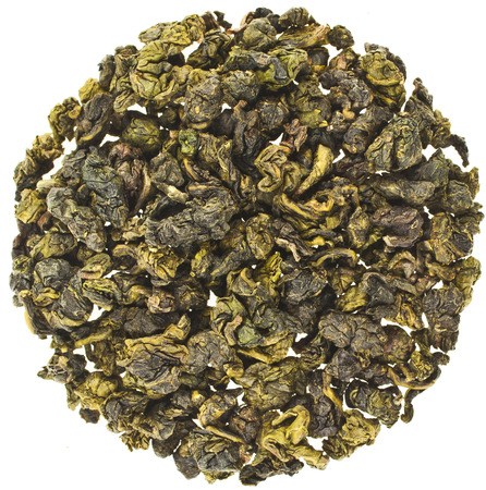 Jin Xuan Oolong Tea with milk flavor (Tea Bao Chao Nai Xiang), isolated on white background Banque d'images