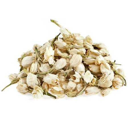 Heap pile of Jasmine Flowers Buds isolated on white background photo