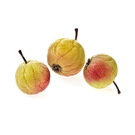 sluggish: sluggish apples fruit isolated on white background Stock Photo