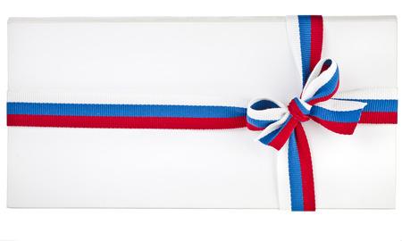 papier a lettre: Papier Lettre enrouler la bande de ruban bande sur blanc