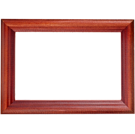 Wooden Photo Frame isolated on a white background photo