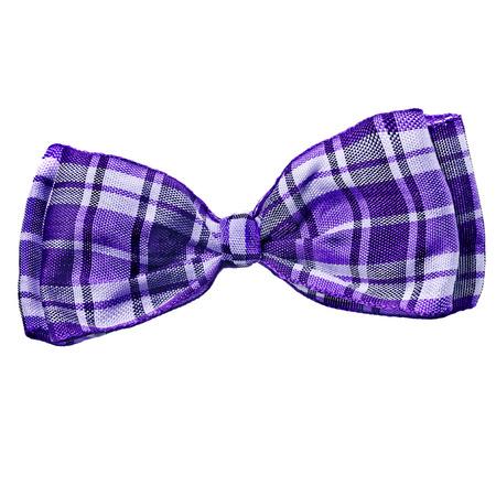 white bow: scottish bow tie isolated on white background Stock Photo