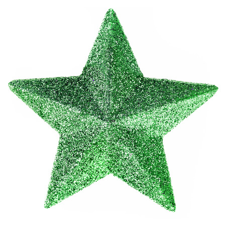 glitzy: Christmas star isolated Stock Photo