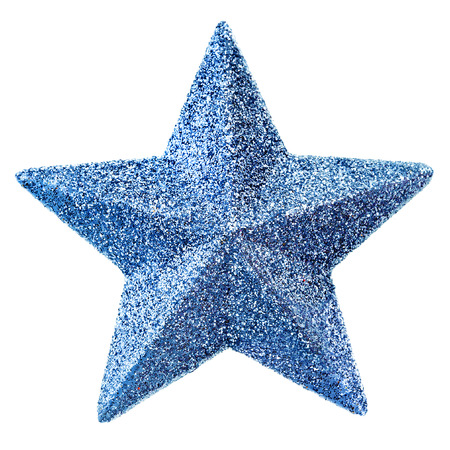 glitzy: blue christmas star Stock Photo