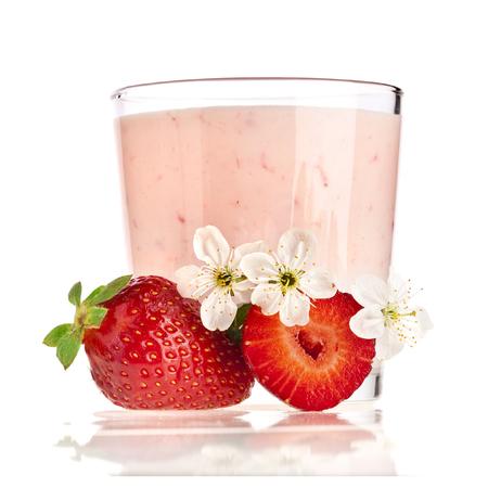 Fresh Berries with Yogurt isolated