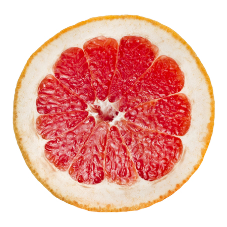 Half citrus grapefruit slice Stockfoto