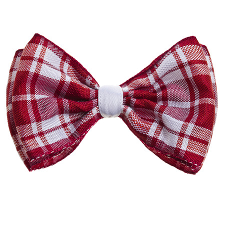 Handmade bow tie isolated on white background