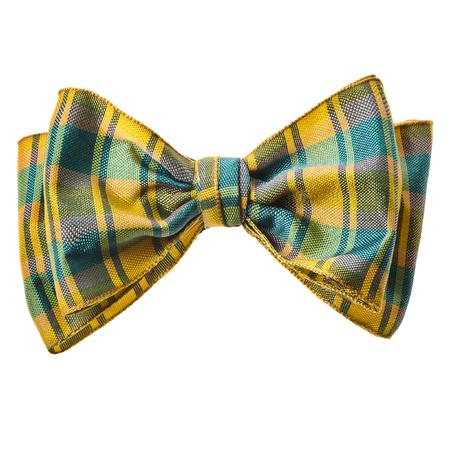 Scottish handmade bow tie isolated Stockfoto