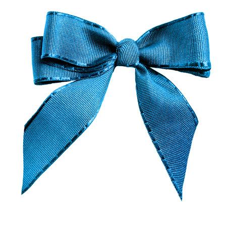 Blue color handmade bow tie