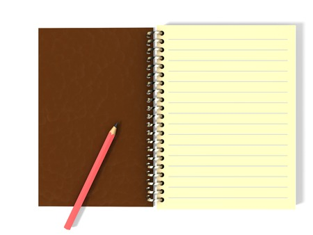 Illustration of notepad with pencil on it illustration
