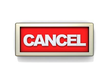 salidas de emergencia: 3d ilustración de firmar o cancelar botón