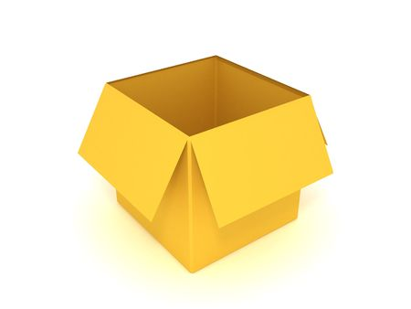 3d illustration of empty box isolated Stock Illustration - 2189777