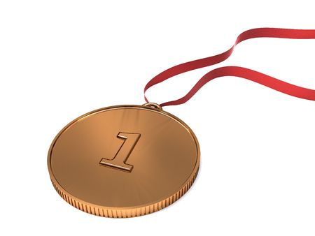 3d illustration of gold olympic medal isolated illustration
