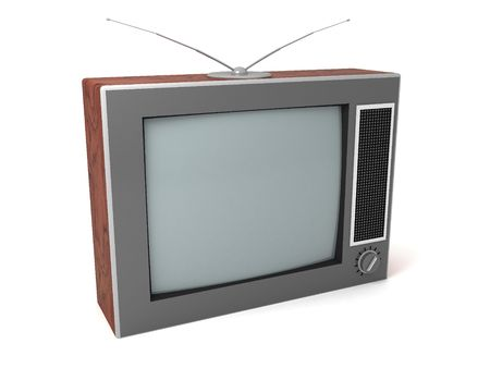 3d illustration of retro tv isolated illustration