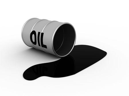 3d illustration of oil flank accident on white background Stock Illustration - 3833609