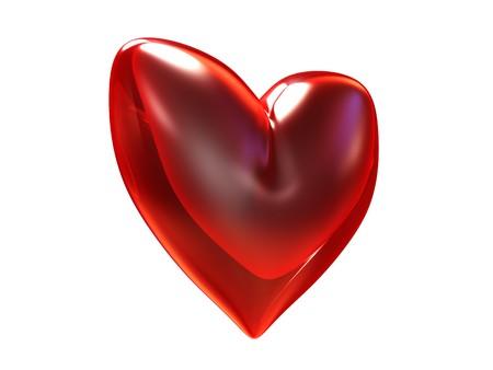 rubin: 3d illustration of rubn heart isolated over white background Stock Photo