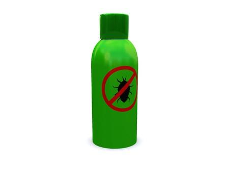 debugging: 3d illustration of anti-bug spray,antivirus concept