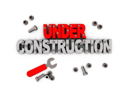 3d illustration of under construction icon, background illustration