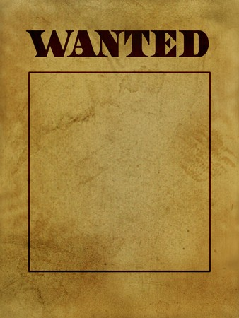 buckaroo: texure or background of old west wanted poster Stock Photo