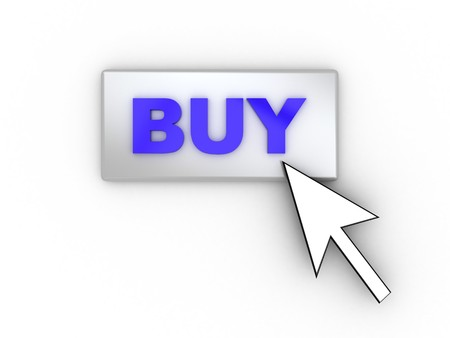 3d illustration of button with text 'buy' and mouse cursor Stock Illustration - 4085637