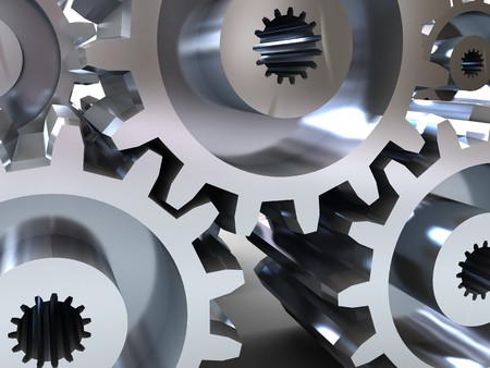 abstract 3d illustration, background, of gear wheels Stock Illustration - 4085663